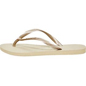 havaianas Slim Flips Women sand grey/light golden